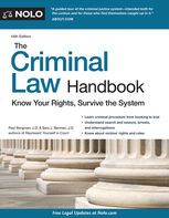 Criminal Law Handbook, The, Paul Bergman, Sara J.Berman