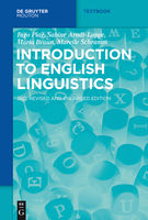 Introduction to English Linguistics, Ingo Plag, Mareile Schramm, Maria Braun, Sabine Arndt-Lappe