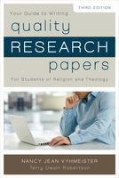 Quality Research Papers, Nancy Jean Vyhmeister, Terry Dwain Robertson