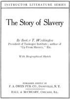 The Story of Slavery (Illustrated), Booker T.Washington